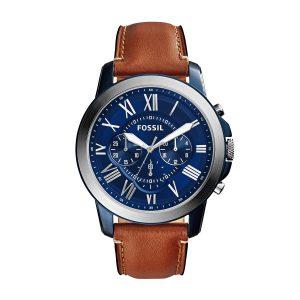Fossil FS5151 Grant Horloge Heren Blauw
